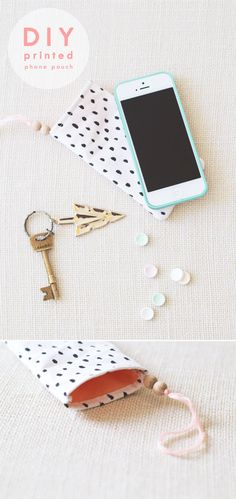 If your phone goes missing all too often, tuck it away in this DIY printed pouch. | 17 DIY Projects For People Who Lose Literally Everything