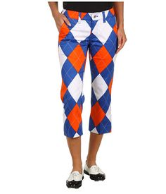 278b075afa62 Loudmouth Golf Orange Blue Capri   6pm.com. Perfect for golf-themed bar