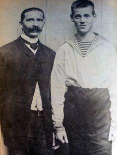 Михаил с воспитателем англичанином Grand Duke Michael Alexandrovich