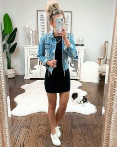 cute outfits for spring \ cute outfits ; cute outfits for school ; cute outfits for winter ; cute outfits with leggings ; cute outfits for school for highschool ; cute outfits for women ; cute outfits for spring Trendy Summer Outfits, Cute Casual Outfits, Fall Outfits, Fashion Outfits, Casual Black Dress Outfit, Cute Dress Outfits, Casual Jeans, White Vans Outfit, Comfy Casual