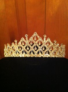 Sparkling Beautiful Crystal Tiara. $54.99, via Etsy. Perfect for a quinceanera tiara Sweet 16, Sweet Fifteen, Quinceanera Tiaras, Quinceanera Collection, Head Jewelry, Jewellery, Silver Tiara, Diamond Crown, Queen Crown