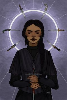 "nouketou: "" The Wraith Inej Ghafa, one of my favorite female characters ever ""Protect me, protect me. She had to believe her Saints saw and understood the things she did to survive."" Inej belongs to Leigh Bardugo """