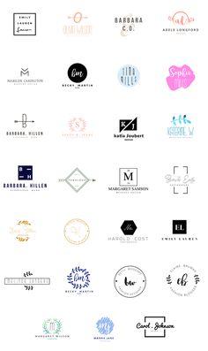 Feminine Logo Templates by GraphicDash on Creative Market - Logos Logo And Identity, Identity Design, Logo Branding, Logo Inspiration, Logo Design Template, Free Logo Design, Brand Logo Design, Logo Desing, Minimal Logo Design