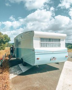 """Awesome """"travel trailer remodel"""" info is readily available on our website. Check it out and you wont be sorry you did. Vintage Camper Redo, Vintage Rv, Vintage Caravans, Vintage Trailers, Vintage Vans, Vintage Campers, Caravan Home, Retro Caravan, Grand Caravan"""