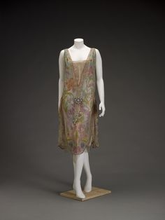 Dress | Callot Soeurs | French | 1926 | silk, silk and metallic lace, imitation pearls and opals | Indianapolis Museum of Art | Accession No.: 77.360