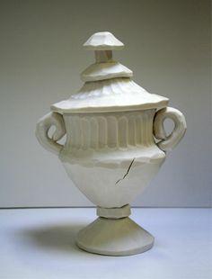 rebecca vernon  carved porcelain urn