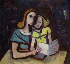 Karl Hofer (1878 - 1955) Lesestunde, 1953