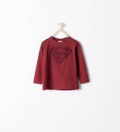 Image 1 of SUPERMAN EMBROIDERED T-SHIRT from Zara