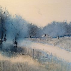 River's Edge 7 monotype by Lisa Breslow