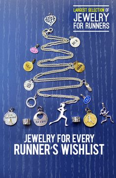 We have the largest selection of jewelry for runners! Check it out!