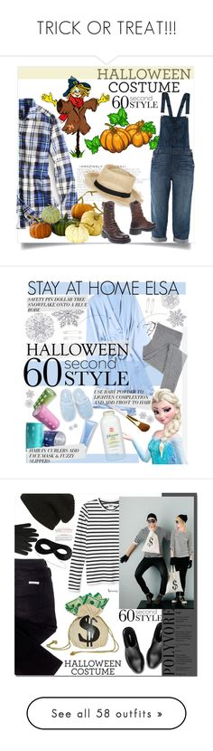"""TRICK OR TREAT!!!"" by tesoro-mia ❤ liked on Polyvore featuring American Eagle Outfitters, J Brand, Sensi Studio, Home Decorators Collection, O.X.S, Holiday Lane, Kristin Cavallari, Yolke, Conair and Soma"