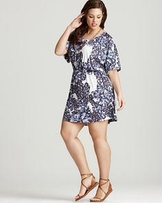 da10d938973da Tbags Los Angeles Plus Size Scroll Print Dress Women - Plus - Dresses -  Bloomingdale s