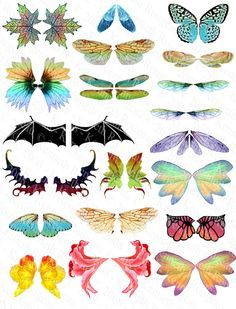 Printable Fairy Wings Template To Download Click On The