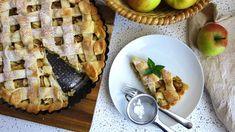 Křehký mřížkový koláč s jablky a marmeládou Apple Dessert Recipes, Apple Pie, Waffles, Baking, Breakfast, Fit, Morning Coffee, Shape, Bakken