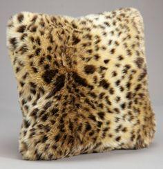Faux Leopard Fur Leopard Pillow
