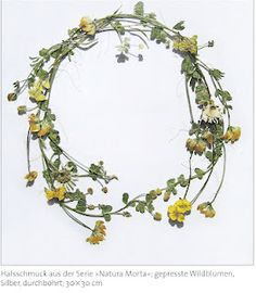 Christopher Thompson Royds, 'Natura Morta', pressed flowers glued to thin sheets of silver and varnished