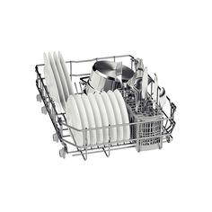 Masina de spalat vase Bosch 9 Seturi, 4 Programe, Clasa A+, 45 cm, Alb - Iak Slimline Dishwasher, Display Lcd, Fully Integrated Dishwasher, Safety Valve, Heat Exchanger, Sump, Red Led, Place Settings, Vase