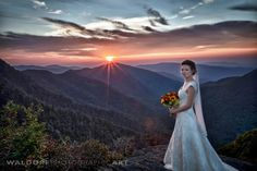 Bill Waldorf and his team climbed three miles up to the top of The Chimneys in the smokies for this shot!