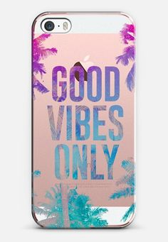 Transparent Tropical Summer Good Vibes Only iPhone SE case by hyakume | Casetify