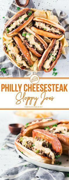 These Philly Cheesesteak Sloppy Joes are serious comfort food. 20 minutes is all you need to make this recipe!  #easyrecipe #comfortfood #dinner #cheese