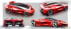 Ferrari Laferrari, Ferrari F1, Car Design Sketch, Car Sketch, Concept Motorcycles, Trd, Transportation Design, Automotive Design, Concept Cars