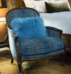 Teal Tibetan Occasional Chair | Exceptional detail and beautiful color! This chair embodies chic style with a modern flare. | www.brumbaughs.com