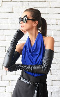 I own these long gloves and they look great with formal or casual attire.