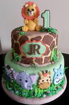 Jungle Theme Cakes, Safari Cakes, Birthday Cakes, 2nd Birthday, Birthday Ideas, Themed Cakes, Baby Ideas, Monkey, Cupcakes