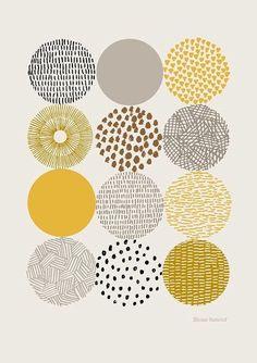 Texture circle pattern