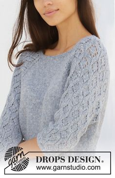 Ravelry: Blue Nostalgia pattern by DROPS design Lace Patterns, Baby Knitting Patterns, Free Knitting, Finger Knitting, Scarf Patterns, Knitting Tutorials, Ravelry, Drops Design, Knit Crochet