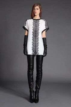 Andrew Gn Pre-Fall 2012 black leather crotch boots and opera gloves runway fashion Runway Fashion, Fashion Show, Fashion Outfits, Womens Fashion, Fashion Design, Crotch Boots, Gloves Fashion, Vogue, Weekend Wear