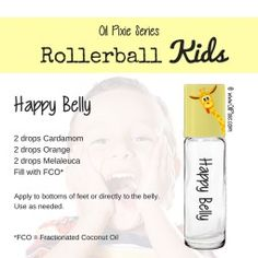 Belly, Tummy, Rollerball blends for kids, essential oils