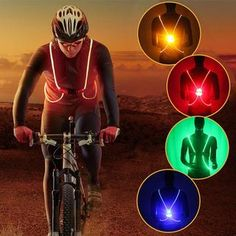 luminated Adjustable Safety Gear Sports Night Running Cycling Vest