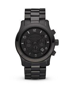 GET ON MY WRIST - MICHAEL Michael Kors Men's Black Watch, 45mm