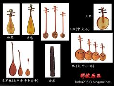 Types of Chinese folk instruments.
