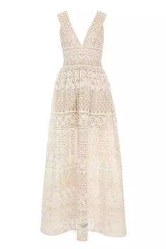 White A Line Dress, White Maxi Dresses, Pretty Dresses, Long Dresses, Floral Dresses, Elie Saab, Floral Print Maxi Dress, Lace Maxi, Dress Lace