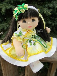 Dress Set for My Child Doll includes by My Child Doll, Dress Set, My Children, Plushies, Sunny Days, Bookmarks, Kids Toys, Doll Clothes, Barbie