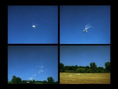 Read the Daily Pic, on a 1974 film by Mendieta that records a weather balloon shot out of the sky. Weather Balloon, Wind Turbine, Balloons, Sky, Film, News, Heaven, Movie, Globes