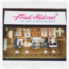 CCA Window Display at Fred Aldous advertising the CCA Stand for this year's Manchester Buy Art Fair. Come See Comme Ca on Stand 25 http://www.buyartfair.co.uk