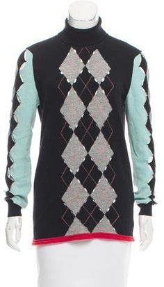 Balenciaga Wool Argyle Sweater