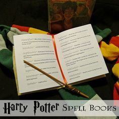 Harry Potter Costume Pieces by Polly: Harry Potter Printable Spell Books - Sew and No-Sew Version