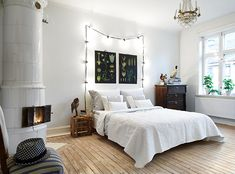 "Such a charming bedroom ("",), full of enchantment!"