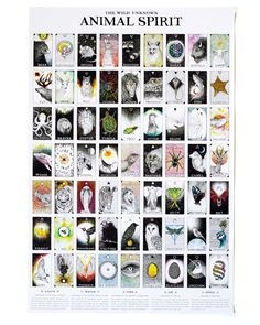 This brilliant full-color poster depicts each of the 63 cards from The Wild Unknown Animal Spirit Deck in order of appearance. Measuring 24 by 36 inches, each p Chakra, Free Tarot Cards, Animal Meanings, Tarot Card Meanings, Tarot Card Decks, Art For Art Sake, Animal Cards, Oracle Cards, Spirit Animal