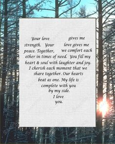 Gift for Wife Gift For Husband Love Poem INSTANT DOWNLOAD - On Sale!!