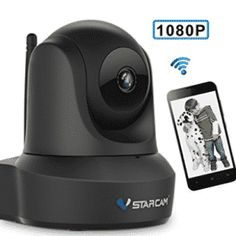 Network Wireless IP Camera, VStarcam IP Cam WiFi Video Surveillance Monitor for Indoor Wireless Ip Camera, Dome Camera, Home Security Systems, Zoom Lens, Ergonomic Mouse, Wifi, Monitor, Indoor, Scooters