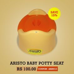 Now Potty training is made easy with Aristo Baby Potty Seat.This potty seat is designed like a chair to make potty training easy and comfortable for toddlers.It is is made in durable plastic with smooth edges which is soft on your baby's skin when he/she sits on it.Aristo Baby Potty comes with a regular flap to cover the seat for hygiene purposes.  Recommended age - Above 9 Months