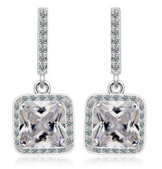 Earrings made with Swiss cut Crystals.