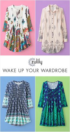 Sign up to shop trendy tunics, up to 70% off at zulily.com. Give your everyday ensembles that special pop with these tunics offering an extra dash of color. If subtle neutrals are more your style speed, there are plenty of soft-spoken picks here too.