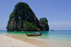 Phra Nang Beach in Krabi, Thailand #beach #travel #thailand