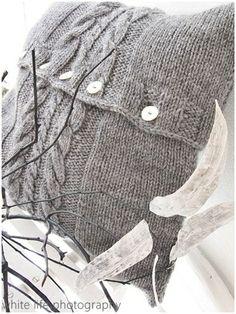 gray sweater pillow